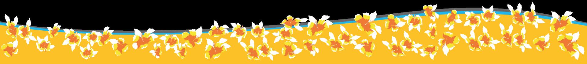 Welle mit Blumen
